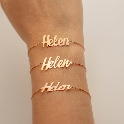 *Free* (Pre- order) Personalized Custom Name Bracelets * With no name plate 3d design! *New*