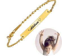Load image into Gallery viewer, (*FREE* PRE-ORDER) Custom Baby Name 16k Gift Bracelet (FREE) (Only 13 left) *PRE-ORDER*