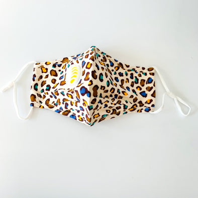 Adult Face Mask - Coloured Leopard