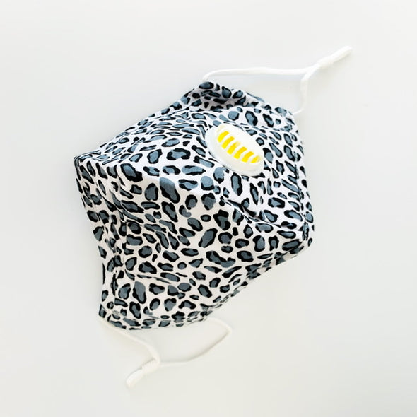 Adult Face Mask - Grey Leopard