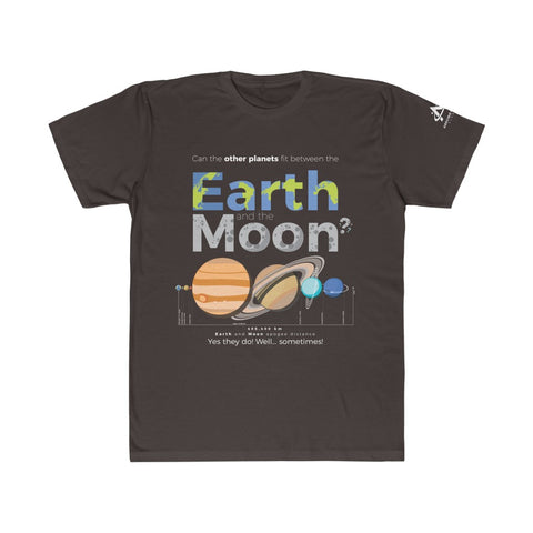 Can the other Planets fit between the Earth and the Moon - Unisex Fitted Tee