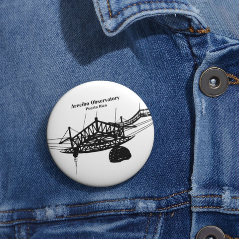 Arecibo Observatory Pin Button