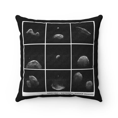 Asteroid Radar Black Pillow