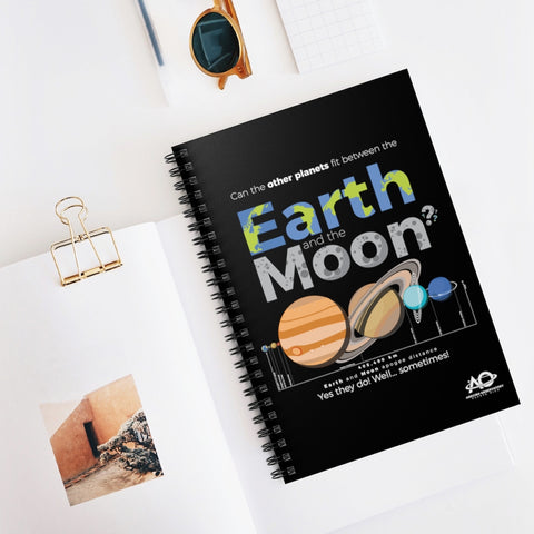 CAN THE OTHER PLANETS FIT BETWEEN THE EARTH AND THE MOON - Spiral Notebook