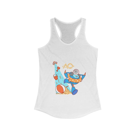 Beach Run! Flowy Racerback Tank