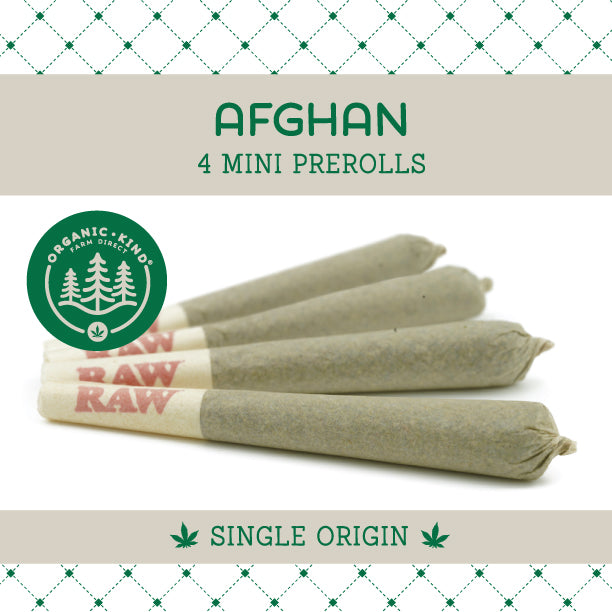 Afghan - 4 Pack Mini Single Origin Prerolls