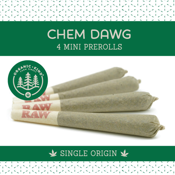 Chem Dawg - 4 Pack Mini Single Origin Prerolls