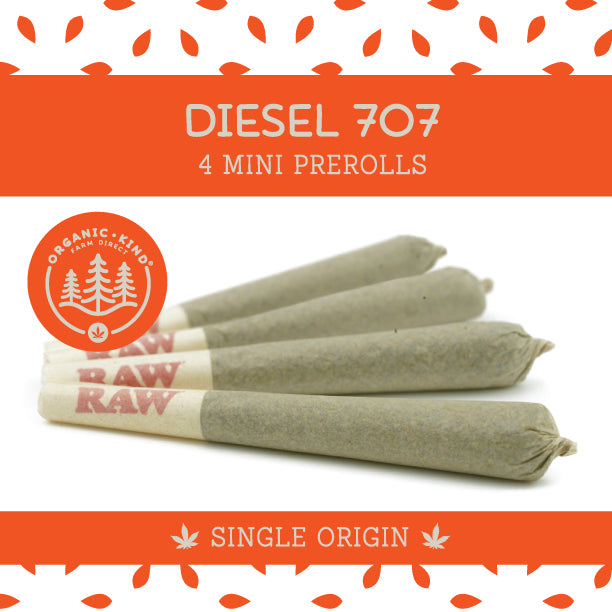 Diesel 707 - 4 Pack Mini Single Origin Prerolls