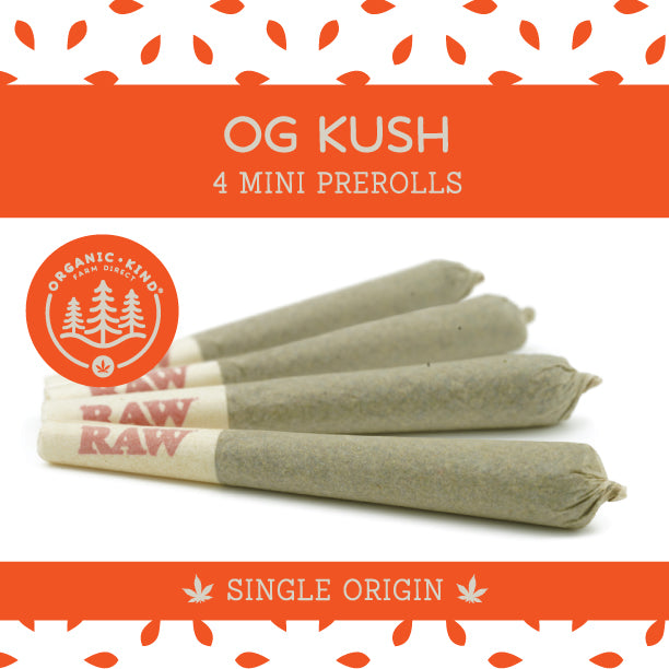 OG Kush - 4 Pack Mini Single Origin Prerolls