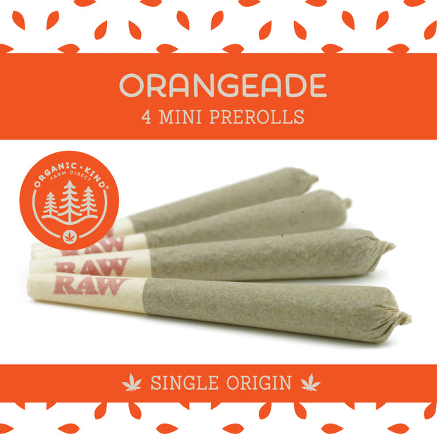 Orangeade - 4 Pack Mini Single Origin Prerolls