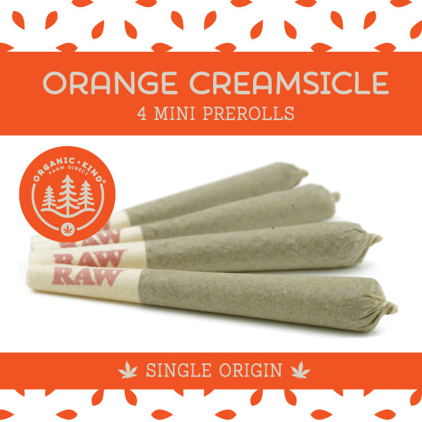 Orange Creamsicle - 4 Pack Mini Single Origin Prerolls