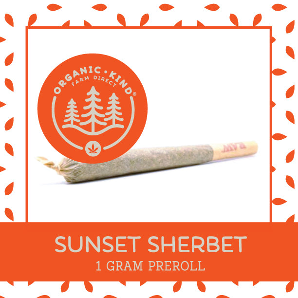 *Limited* Sunset Sherbet - Full Gram Single Origin Preroll