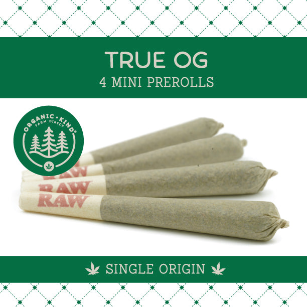 True OG - 4 Pack Mini Single Origin Prerolls