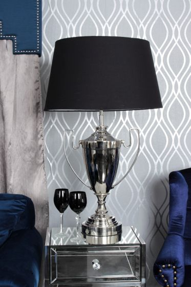 Nickel Trophy Lamp-Black