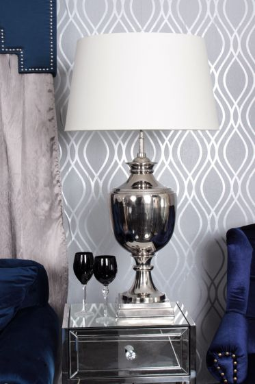 Nickel Parma Lamp -Cream