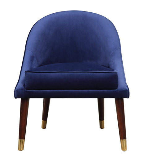 Blue Velvet Cocktail Chair - Blakes Discounts