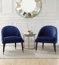 Load image into Gallery viewer, Blue Velvet Cocktail Chair - Blakes Discounts
