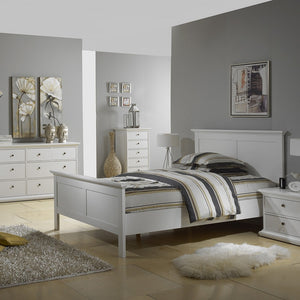 Paris Double Bed 4ft6 (140 x 190) in White
