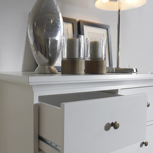 Paris Chest of 8 Drawers in White
