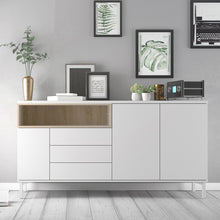 Load image into Gallery viewer, Roomers Sideboard 3 Drawers 3 Doors in White and Oak