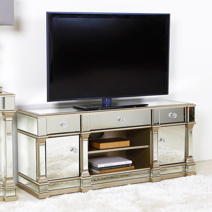 Mansly Gold Medium  Mirrored TV Stand