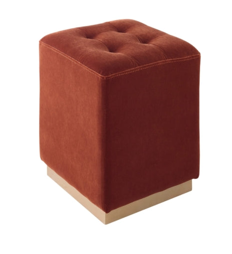 Margot Burnt Orange Ottoman