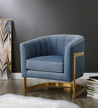 Load image into Gallery viewer, Elsie Powder Blue Velvet Chair - Blakes Discounts