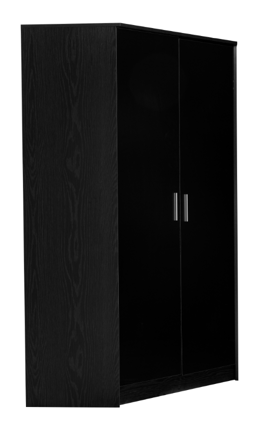 REFLECT - High Gloss 2 Door Corner Wardrobe - 4 Colours - Blakes Discounts