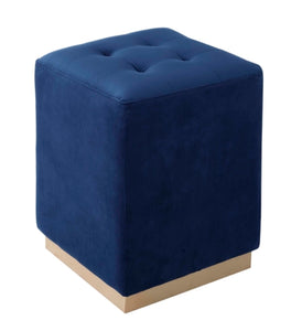 Margot Electric Blue Ottoman