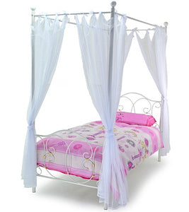 METAL MUSE 3'0 SINGLE BED WHITE - Blakes Discounts