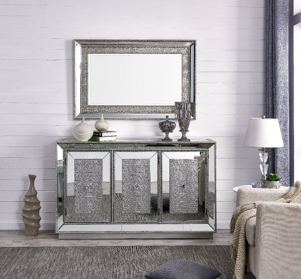 Sofia 3 Door Sideboard & Mirror - Blakes Discounts