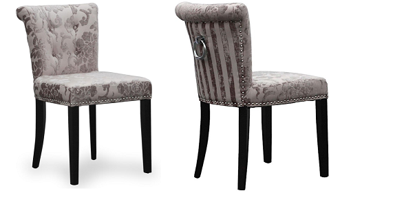 MINK LUXURY FABRIC DINING / ACCENT CHAIRS (SET OF 2) - Blakes Discounts