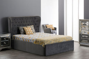 5ft King Roberta Bed-Grey - Blakes Discounts
