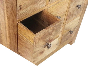 Country Style Mini Chest with 9 Drawers