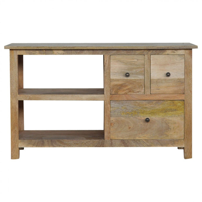 Country Style Media Unit with 3 Drawers