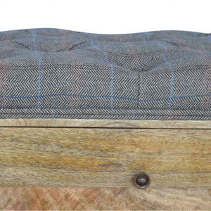 Multi Tweed 4 Slot Shoe Storage Bench