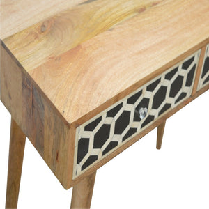Bone Inlay Console Table - Blakes Discounts