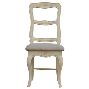 Amberly Carved Dining Chair with Seat Pad - Blakes Discounts