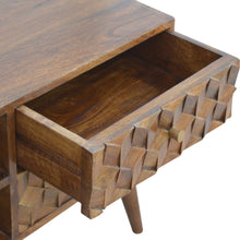 Load image into Gallery viewer, Chestnut Cube Carved Media Unit - Blakes Discounts
