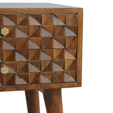 Load image into Gallery viewer, Diamond Carved Chestnut Bedside