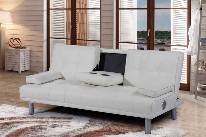 HATTAN SOFA BED  WHITE BLUETOOTH - Blakes Discounts