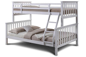 Olli WHITE WOODEN TRIPLE SLEEPER BUNK BED - Blakes Discounts