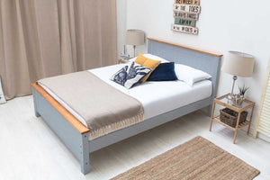 ROSTHERNE WHITE WOODEN DOUBLE BED - Blakes Discounts