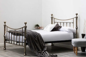 Stratford' Brass Antiqued  Bed Frame - Blakes Discounts