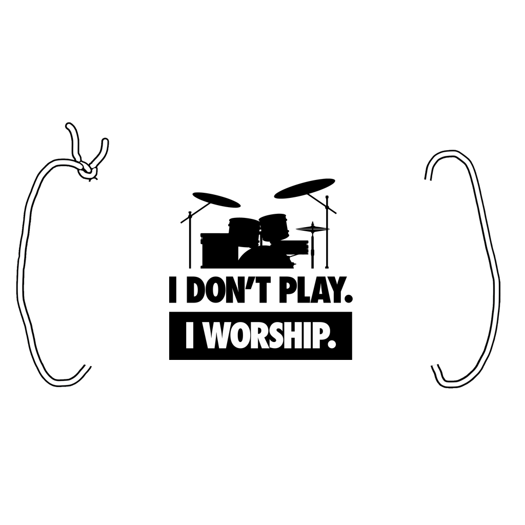 I WORSHIP = DRUMS Face Mask