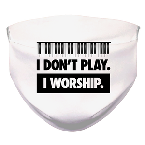 I WORSHIP = PIANO Face Mask