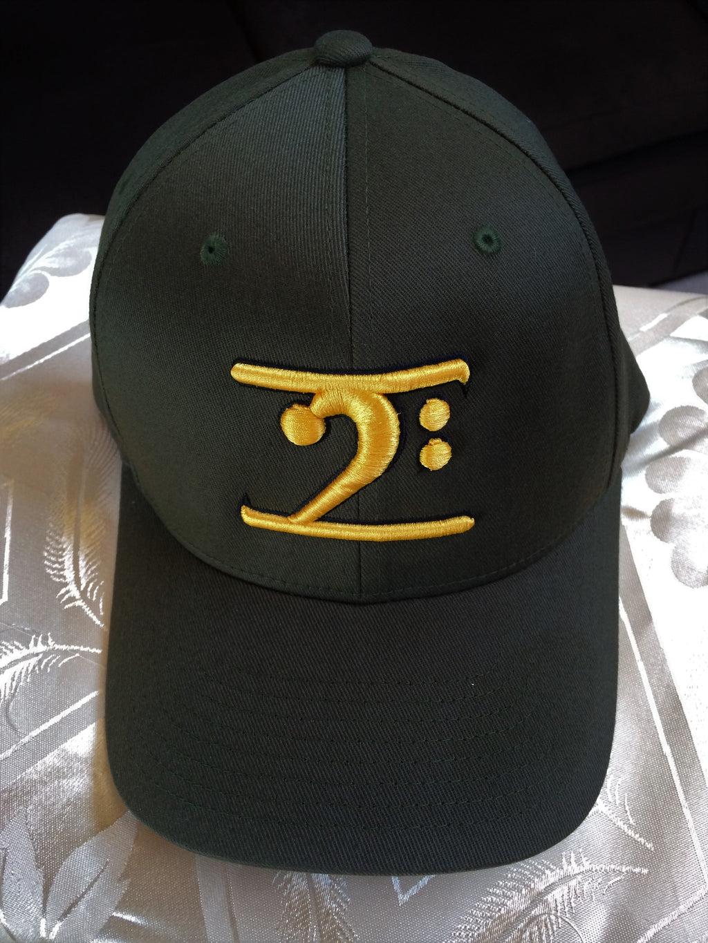 BLACK LOGO CAP - GOLD LOGO BLACK TRIM - Lathon Bass Wear