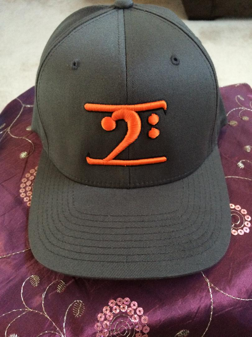 BLACK LOGO CAP - ORANGE LOGO BLACK TRIM - Lathon Bass Wear