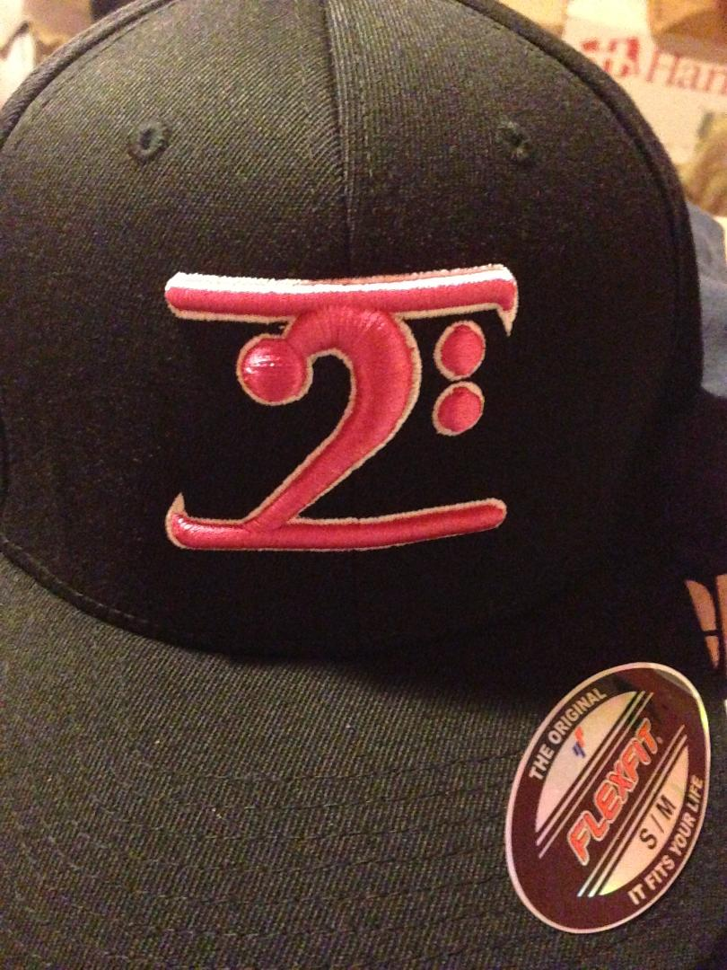 BLACK LOGO  CAP - PINK LOGO WHITE TRIM - Lathon Bass Wear