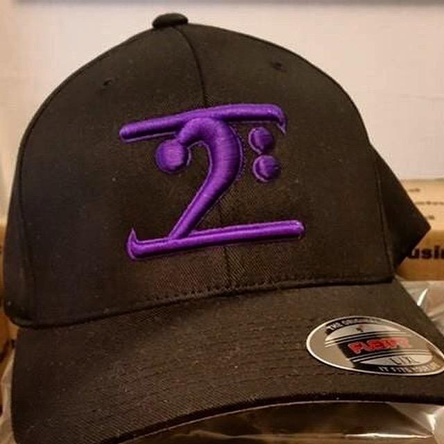 BLACK LOGO CAP - PURPLE LOGO - Lathon Bass Wear